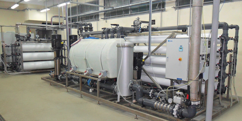 Ultrafiltration system for water demineralization